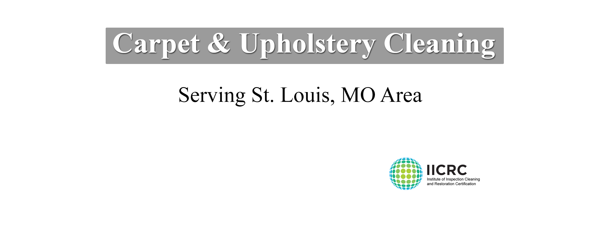 Carpet Cleaning Service St. Louis MO